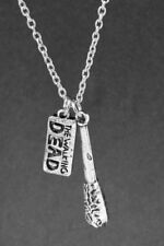 The Walking Dead Silver Negan Lucille Bat Necklace  Cos Play UK Stock 589