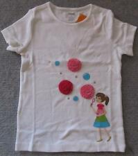 "NWT GYMBOREE  SZ.3,""ICE CREAM SWEETIE""Girl Blowing Bubbles Ruffle Ribbon Top Tee"