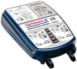 OPTIMATE 3 Motorcycle DUAL Bank 12V Battery Charger Optimiser / Conditioner