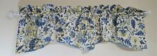 """Waverly Home Classics Lined Yellow Blue Green Scalloped Valance 80"""" x 21"""""""