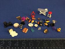 GRAB BAG BIG LOT ANTIQUE/VINTAGE miniature accessories and mini furniture
