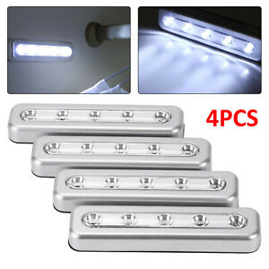 Silver Push Lights Led Stickers Battery Stick On Kitchen Cupboard for Cupboard
