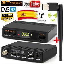 GTMedia V7S FULL HD 1080P DVB-S2 Satellite TV Receiver +Wifi Antenna FTA Digital