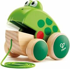 Nachziehfrosch Fridolin von Hape Holzfrosch Fliegen fressendes Spielzeug Kinder