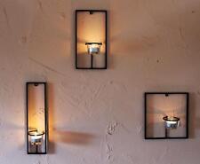 Soporte de pared para velas té Carré 3 PCS. Candelabro Metal Portavelas Té