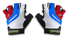 Mosso Fingerless Gel palm gloves White (M) Cycling MTB biking