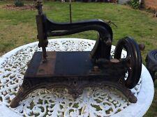 ANTIQUE CAST IRON HAND CRANK WERTHEIM Model A SEWING MACHINE.
