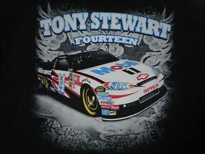 Vintage NASCAR Tony Stewart Mobil T-Shirt L/XL