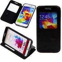 Apple iPhone 6 6S 4,7 Tasche Handy Klapp Case Schutz Hülle Cover Window Schwarz