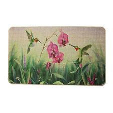 "Soft Cotton & Linen Fashion Hummingbird Printing Rubber backed Doormat 30""X18"""