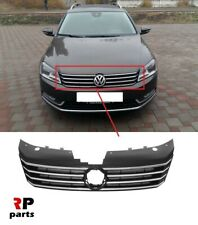 FOR VOLKSWAGEN PASSAT B7 2011-2014 FRONT BUMPER UPPER CENTER GRILL CHROME BLACK