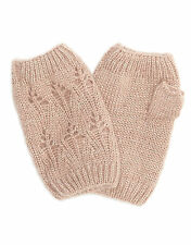 Accessorize pale pink fingerless knitted gloves metallic thread BNWT