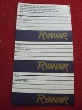 AIRLINE BAGGAGE STICKERS X 3 RYANAIR 1980'S / 90'S VINTAGE