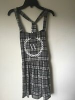 Wildfox Gray Flannel Plaid Jumper - New