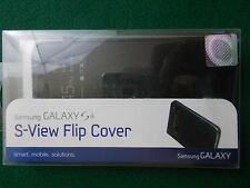 Samsung Galaxy S4 S-view slip cover black snaps on battery cover 2014 w/ instruc