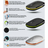 Mini USB 2.4GHz Wireless Optical Mouse 1600DPI Ultra-Slim Mouse Mice for Laptop