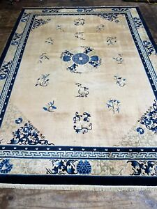 Antique Art Deco  Chinese RUG CARPET Handmade Size: 365x255 Cm
