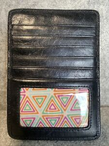 Black Leathee Hobo Passport Case With Creditcard Slots And Zip Coin