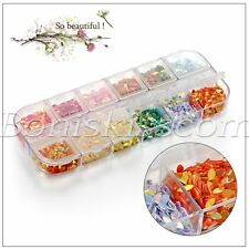 4 Boxes 3D Nail Art DIY Multi-color Glitter Rhinestones Studs Charms Tweezer Kit