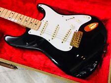 Fender USA Custom Shop 1958 Stratocaster Black Gold beutiful rare JAPAN EMS F/S*