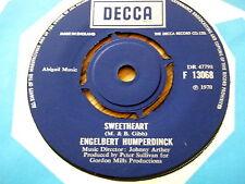 """ENGELBERT HUMPERDINCK - SWEETHEART  7"""" VINYL"""