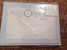 MOTHERCARE Baby Boys Birth Announcement Cards X 10 Brand New In Packet 99p