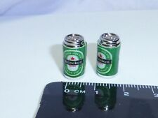 1:12 Scale 2 Empty Cans Heineken drink Dolls House Miniature