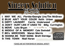 Singers Solution  CO#449-Karaoke  CDG  9-SONGS-MAY WE ALL-MOVE-80'S MERCEDES