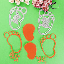 1 Set Metal Baby Feet Circle Letters Embossing Cutting Dies Stencil Scrapbooking