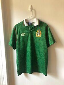 Original Vintage Mexico 1994 #8 (Aspe?) Football Shirt Soccer Jersey Small