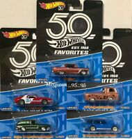 HOT WHEELS 2018 50th ANNIVERSARY FAVORITES SET OF 5 DATSUN FORD CHEVY JAVELIN