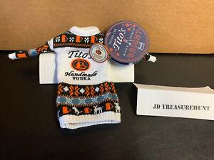 Tito's Handmade Vodka Black / Orange / White Tiny Sweater For 375 ML Bottle