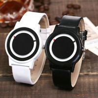 Women's Casual Quartz Leather Strap Round Dial Watch Couple's Analog Wrist Watch