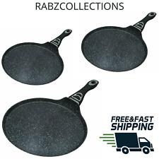Non Stick Pizza Pan Crepe Pan Pancake Maker Roti Dosa Tawa Induction Gas Hob