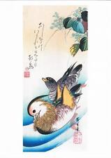 Patos mandarín de reproducción en color madera Print por Utagawa Hiroshige
