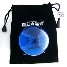 Blue Clear Transparent Translucent Acrylic contact Juggling ball 70mm + Pouch
