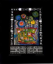Hundertwasser Arche Noah Poster Kunstdruck Bild 50 x 40 cm mit Folienprägung neu