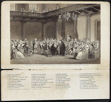 C. SCHUSSELE Antq 19thC 1860 Steel Engraving FRANKLIN BEFORE THE PRIVY COUNCIL