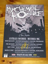 MY CHEMICAL ROMANCE - MCR - 2007  Australian Tour SIGNED AUTOGRAPHED  Poster