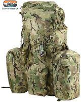 MILITARY RUCKSACK 120 LITRE BERGEN MTP BTP CAMO PLCE KIT BAG CADET BRITISH ARMY2