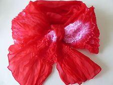 """Japanese 108""""L Child's Heko Obi Belt Sash Kimono Yukata Polyester/ Red"""