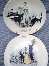 Assiettes parlantes faïence de Sarreguemines série humoristique Guillaume 1895