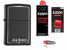 Zippo Jack Daniels Whisky + Starter Pack mit Benzin,Docht,Feuersteine Neu
