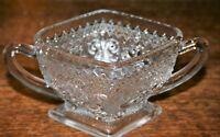 Indiana Depression Glass Clear Sandwich Sugar Bowl