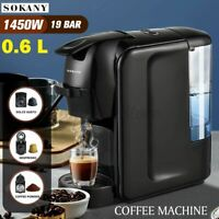 Automatic Electric Coffee Maker Drip Machine Expresso Capsule Household 1450W