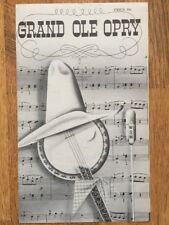 1963 Grand Ole Opry Program Willie Nelson Debut Possibly!
