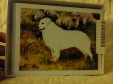 Kuvasz dog note cards with envelopes by Ruth Maystead