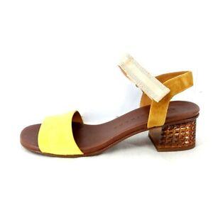 Chie Mihara Damen Schuhe Sandaletten Pumps Quolum Leder Cognac Gelb Np 259 Neu