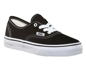 Vans Authentic Classic Black White Skate Youth Kids Sneakers