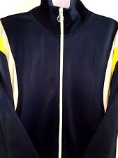 Calvin Klein Jeans Sweater Track Top Zipper HipHop Jacket (yellow/blue/white XL)